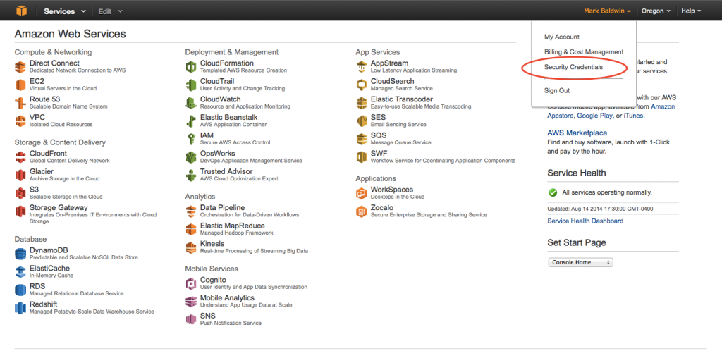 amazon-security-credentials
