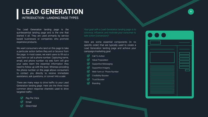 Lead Generation Landing Page Tactics