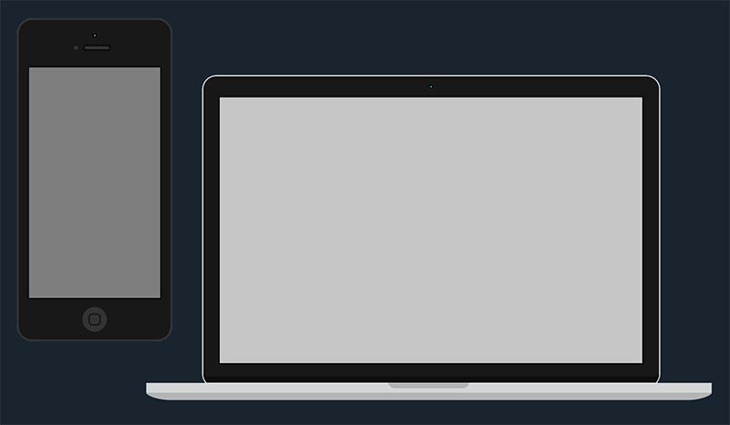 mobile desktop landing page
